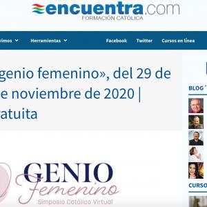 Simposio catolico virtual genio femenino en EncuentraCom