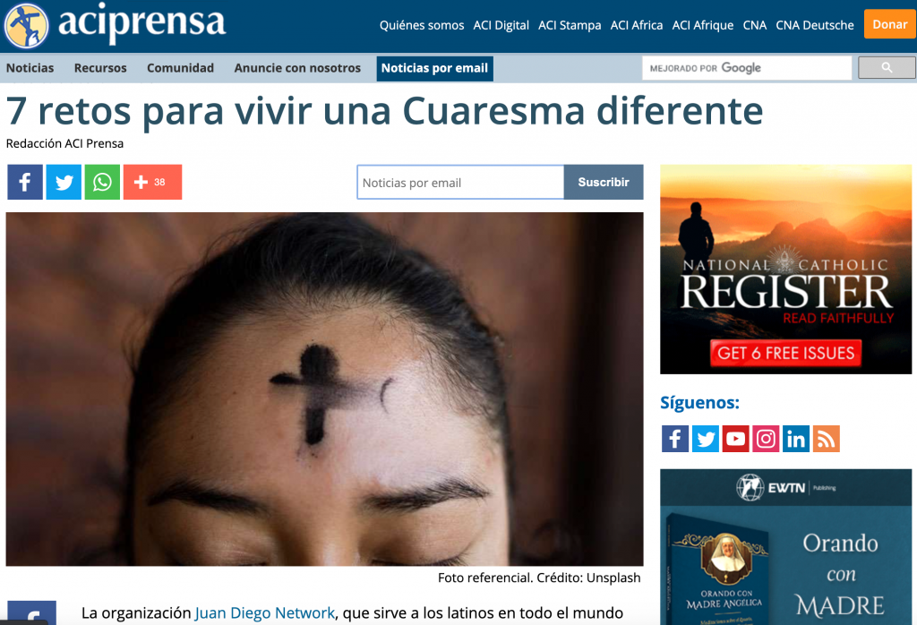 ACIprensa podcasts juan diego network cuaresma retos
