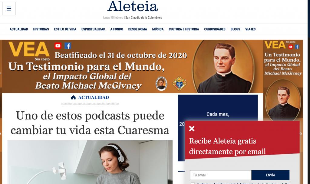 Aleteia podcasts juan diego network cuaresma retos