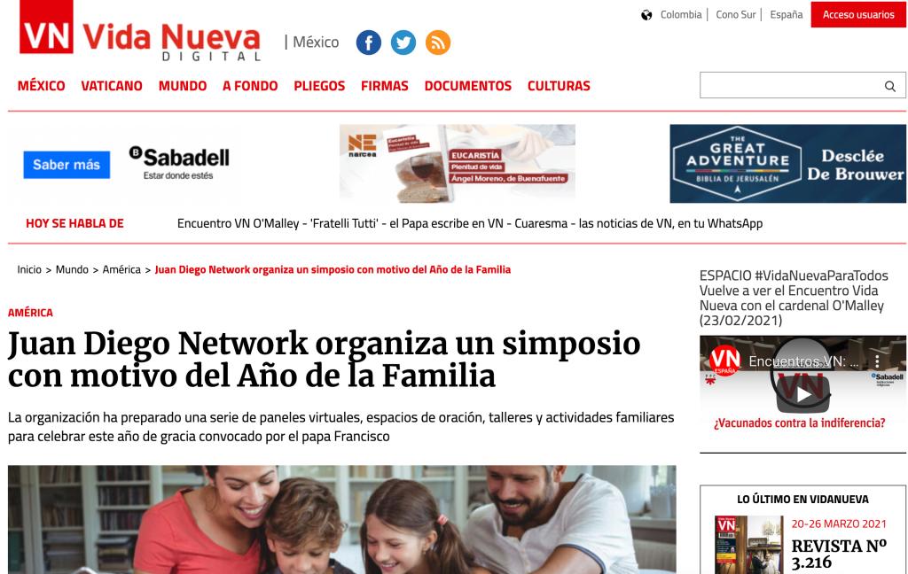 vida nueva juan diego network simposio católico virtual